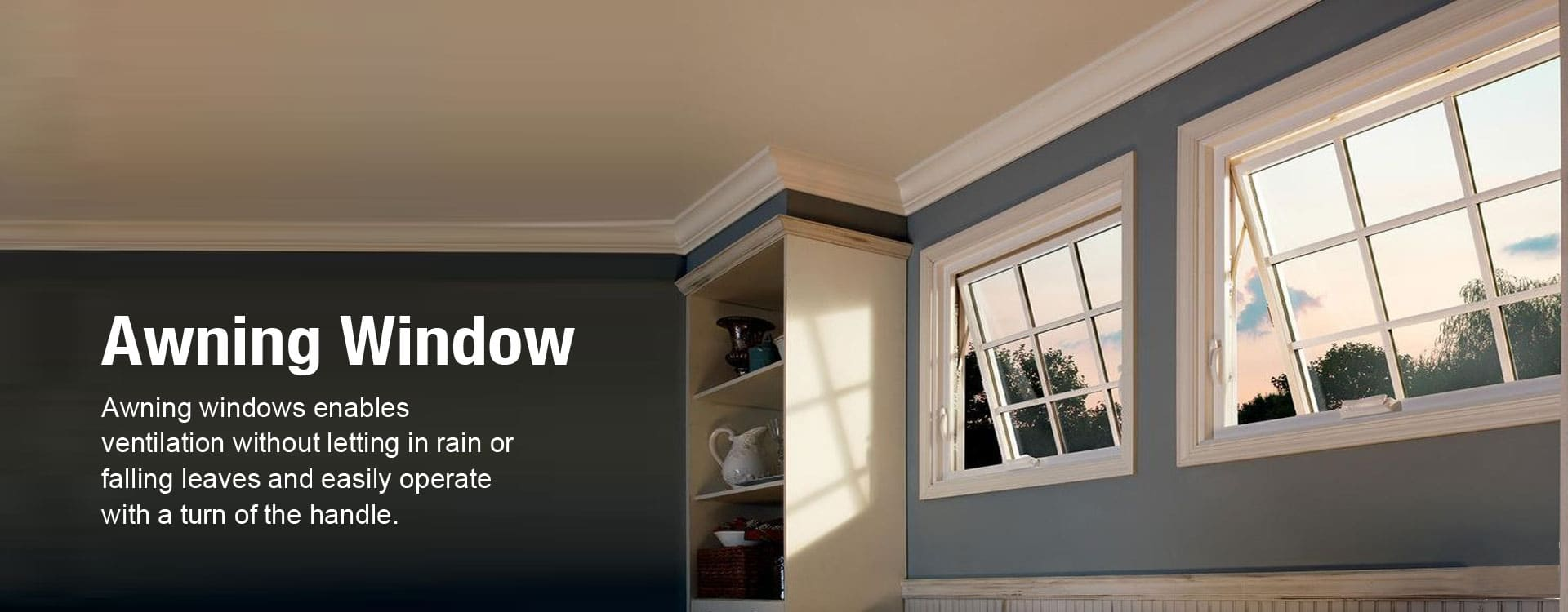upvc awning or top hung window