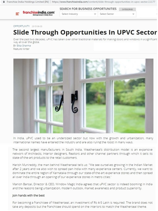 opportunities-in-upvc-sector-franchiseindia